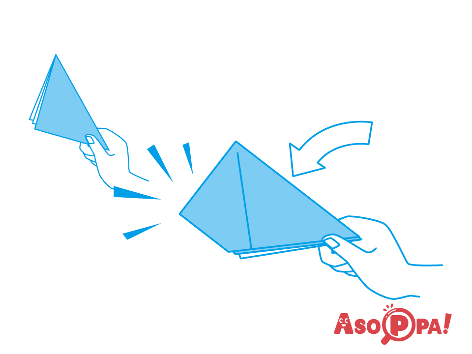 折り紙 紙鉄砲 音が鳴る折り紙・新聞紙「紙鉄砲」の作り方。音を鳴らずコツもご紹介