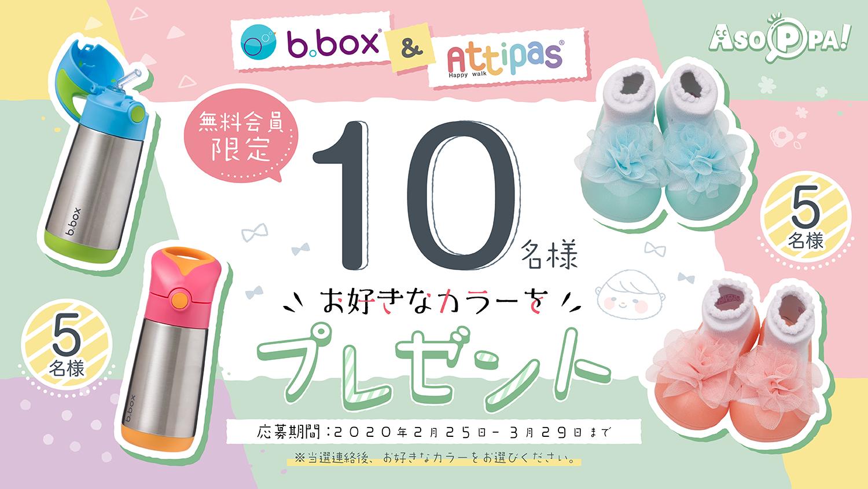 Attipas & b.box プレゼントキャンペーン!